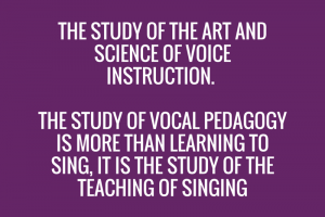 Vocal Pedagogy