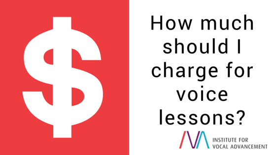 How much should I charge for voice lessons?