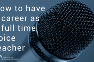 How to have a career as a full time voice teacher