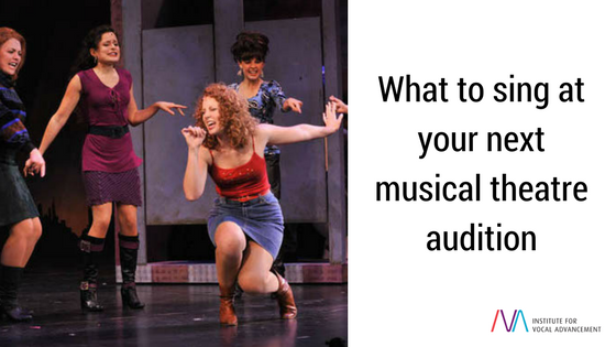 Musical theatre singing audition